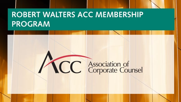 Robert Walters Association of Corporate Counsel