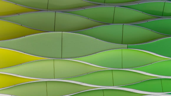 Green-yellow wavy abstract design